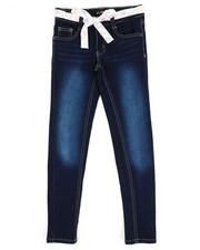 Bottoms - Denim Jeans W/ Sash Belt (7-16)-2342655