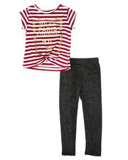 Sets - Striped Top & Legging Set (2T-4T)-2333965