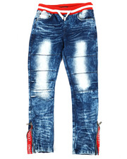 Sizes 8-20 - Big Kids - Pull On Rib Jeans (8-20)-2339586