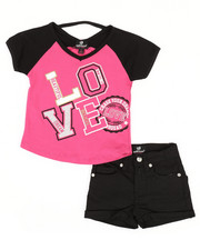 Dollhouse - 2 Pc Tee & Shorts Set (7-16)-2345599