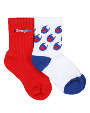 Champion - 2 Pack C Logo All Over Print Crew Socks (10C-3Y)-2347715