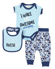 Duck Duck Goose - 3 Piece I'm Awesome Knit Set (Infant)-2342119