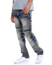 Buyers Picks - Bleached Wash Moto Jean w Thigh Zip Detail Jean-2347964