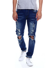 Jeans & Pants - BLOWN OUT KNEE STRETCH JEAN-2347907