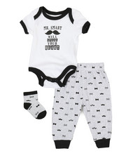 Duck Duck Goose - 3 Piece Slogan Knit Set (Infant)-2339438