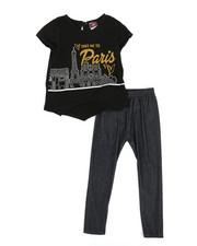 La Galleria - Fashion Top & Leggings Set (2T-4T)-2345562