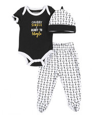Duck Duck Goose - 3 Piece Slogan Knit Set (Infant)-2342127