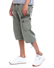 Shorts - Long CARGO SHORT - LEAF GREEN-2348164