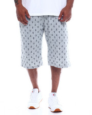 Shorts - Mens Fleece Print Shorts (B&T)-2348344