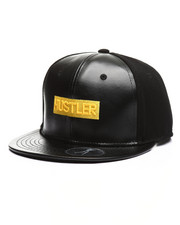 Hustler - Leather PU Snapback Hat-2343602