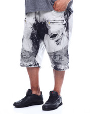 Shorts - Makobi Biker Short W/Rip & Repair (B&T)-2348321