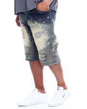 Shorts - Makobi Biker Short W/Rip & Repair (B&T)-2348314