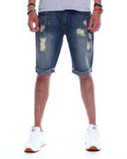 Men - Distressed Roll Up Jean Short-2348226