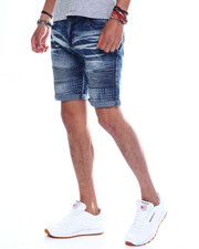 Spring-Summer-M - Spike Embossed Moto Denim Short-2348238