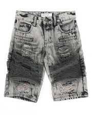 Shorts - Ripped Denim Shorts (8-18)-2342830