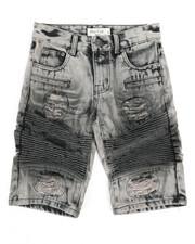 Sizes 8-20 - Big Kids - Ripped Denim Shorts (8-18)-2342830