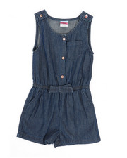 Rompers - Chambray Romper (7-16)-2345938