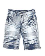 Sizes 8-20 - Big Kids - Ripped Denim Shorts (8-18)-2342916