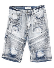 Jeans - Ripped Denim Shorts (8-18)-2342842