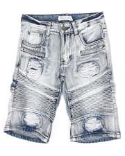 Sizes 8-20 - Big Kids - Ripped Denim Shorts (8-18)-2342842