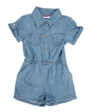 Rompers - Chambray Romper (4-6X)-2346006