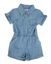 Sizes 4-6x - Kids - Chambray Romper (4-6X)-2346006
