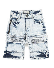 Jeans - Ripped Denim Shorts (8-18)-2342866
