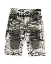 Sizes 8-20 - Big Kids - Ripped Denim Shorts (8-18)-2342928