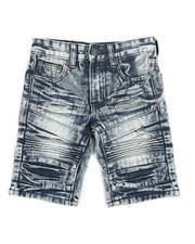 Arcade Styles - Ripped Denim Shorts (4-7)-2342849