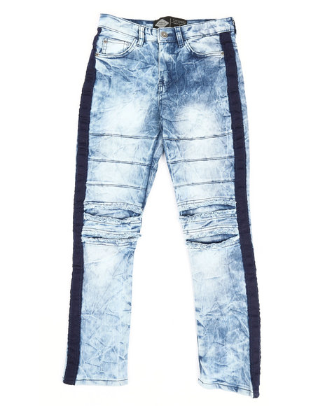 Arcade Styles - Taping Ripped Knee Jeans (8-20)