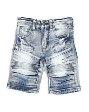 Arcade Styles - Ripped Denim Shorts (4-7)-2342911
