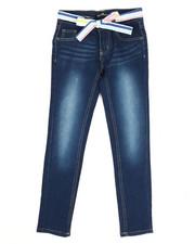 Bottoms - Denim Jeans W/ Sash Belt (7-16)-2346524