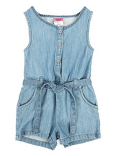 Rompers - Chambray Romper (4-6X)-2345923