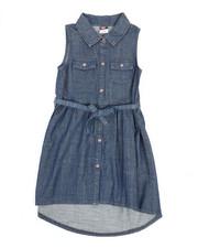 Girls - Denim Dress (7-16)-2345974