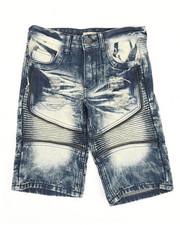 Sizes 8-20 - Big Kids - Ripped Denim Shorts (8-18)-2342904