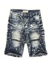 Sizes 8-20 - Big Kids - Ripped Denim Shorts (8-18)-2342940