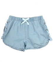 Girls - Lace-Up Detail Shorts (4-6X)-2346538