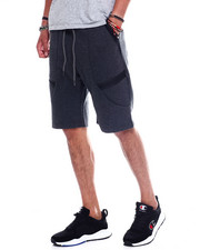 Athleisure for Men - Men's Seamed Details Tech Fleece Short-2348390