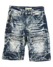 Sizes 8-20 - Big Kids - Ripped Denim Shorts (8-18)-2346786