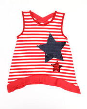 Girls - Yarn Dyed Stripe Top W/ Sequins (7-16)-2346639