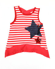 Girls - Yarn Dyed Stripe Top W/ Sequins (4-6X)-2346600