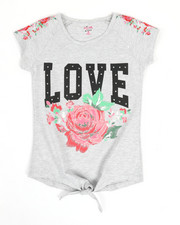 Girls - Floral Embroidery Top (7-16)-2346726