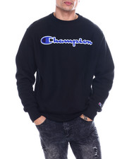Athleisure for Men - REVERSE WEAVE CHENILLE SCRIPT CREW-2349592