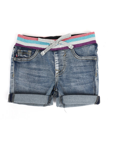 Vigoss Jeans - Rainbow Knit Waist Shorts (2T-4T)