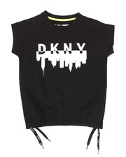 Girls - DKNY Logo Terry Sweatshirt (7-16)-2347194