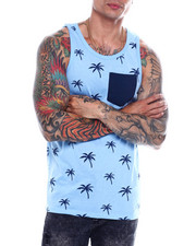 Men - Palm Tree Pocket Tank Top-2349441
