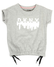 Girls - DKNY Logo Terry Sweatshirt (7-16)-2347184