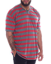 Buyers Picks - S/S V-neck 2 Tone Stripe Tee (B&T)-2350936