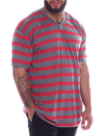 Buyers Picks - S/S V-neck 2 Tone Stripe Tee (B&T)