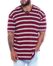 Buyers Picks - S/S V-neck 2 Tone Stripe Tee (B&T)-2350940